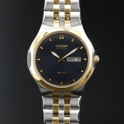 Citizen Eco-Drive Day/Date Stainless Steel Wristwatch