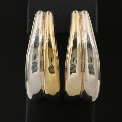 Sterling Silver Electroformed Clip-On Earrings