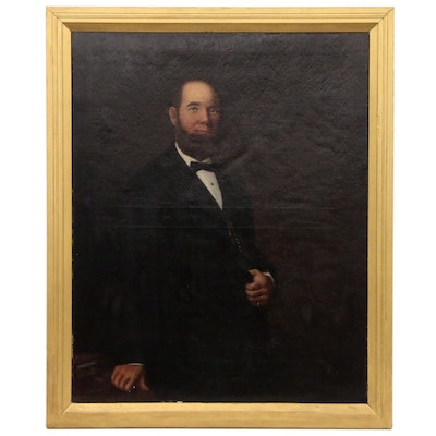 James Malcolm Stewart Portrait Oil Painting of Gentleman, Late 19th Century