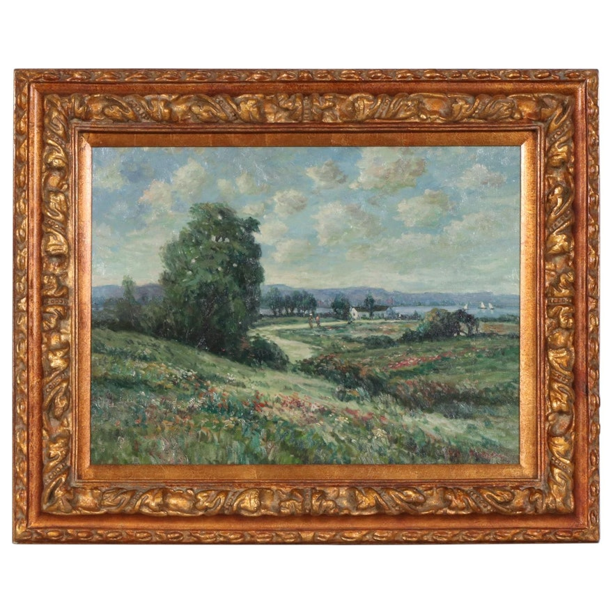 H.S. Roesen Impressionist Style Landscape Oil Painting