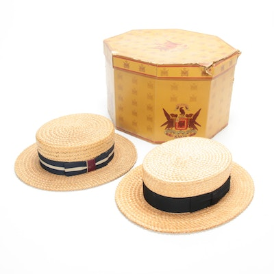 Straw Boaters Hats from Harry's Menswear and The Halle Bros. Co.