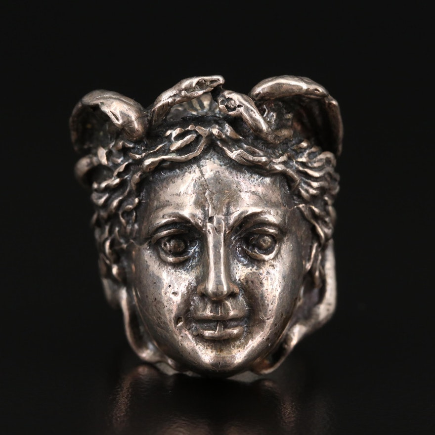 Sterling Silver Medusa Ring