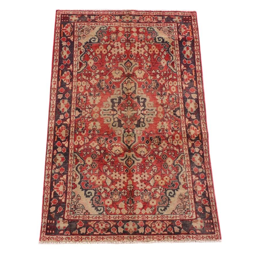 4'3 x 7'0 Hand-Knotted Persian Kolyai Wool Rug