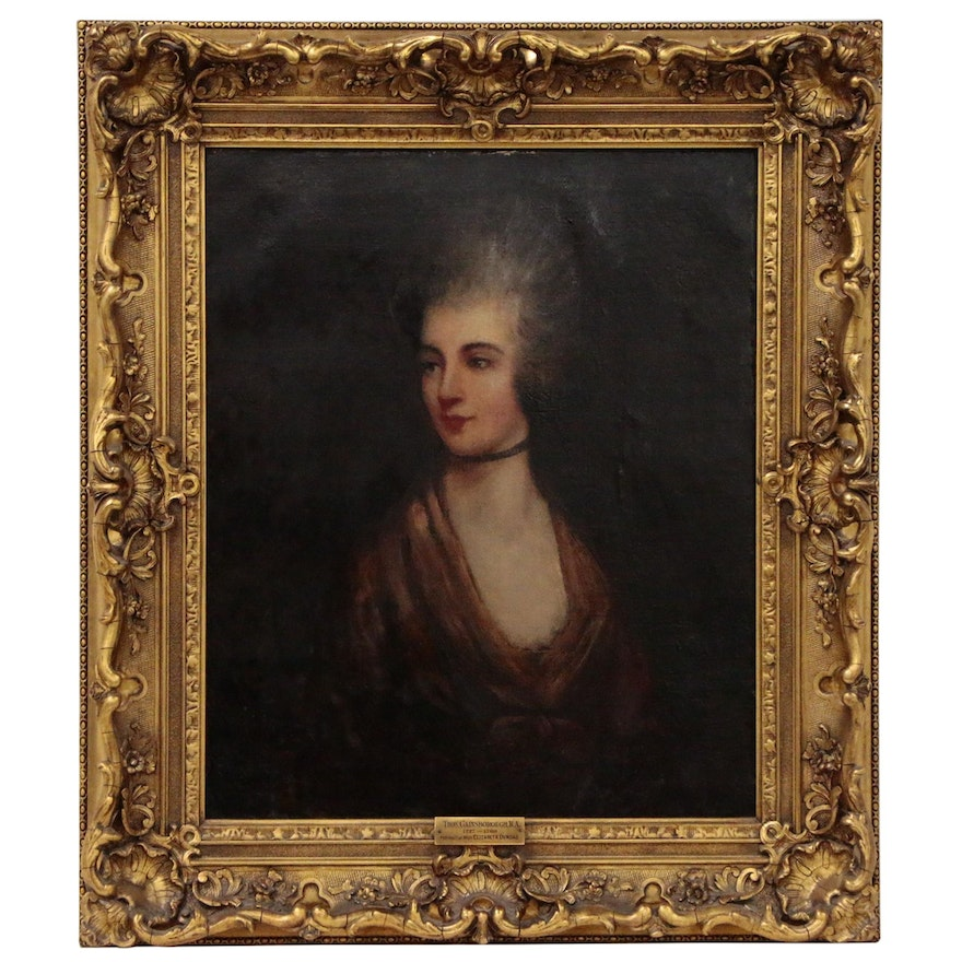 Portrait of Georgian Lady in the Style of Thomas Gainsborough, Late 18th Century