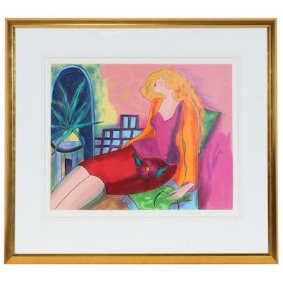"Linda Le Kinff Serigraph ""Marco 96"", 1998"