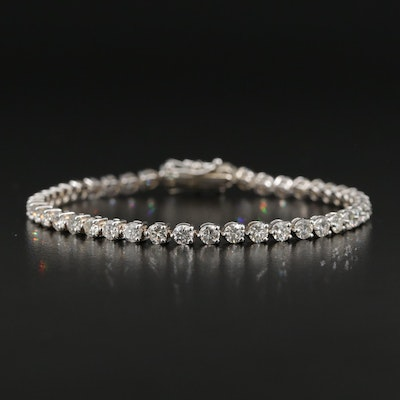 18K Gold 5.40 CTW Diamond Line Bracelet