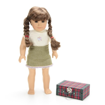 "American Girl ""Molly"" Doll with Plaid Suitcase"