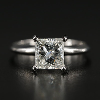14K Gold 1.64 CT Diamond Solitaire Ring