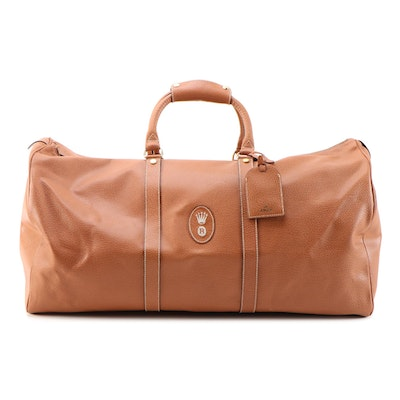 Rolex Duffel Travel Bag in Brown Coated Canvas