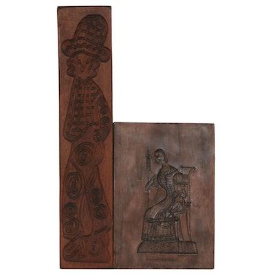 Dutch Folk Art Carved Speculaas Molds
