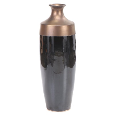 Bronze Metallic Glaze Ceramic Floor Vase