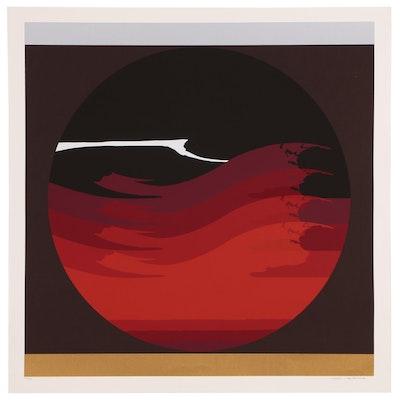 "Thomas W. Benton Abstract Serigraph ""Gate Series - Red"""