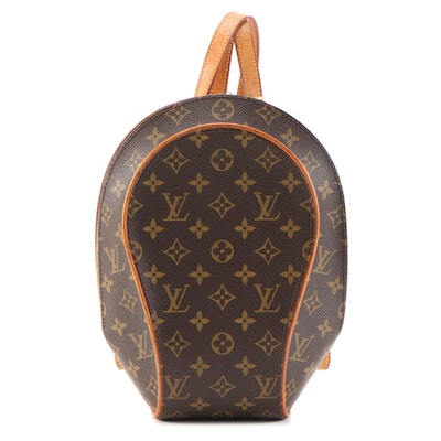 Louis Vuitton Ellipse Sac A Dos Backpack in Monogram Canvas and Vachetta Leather