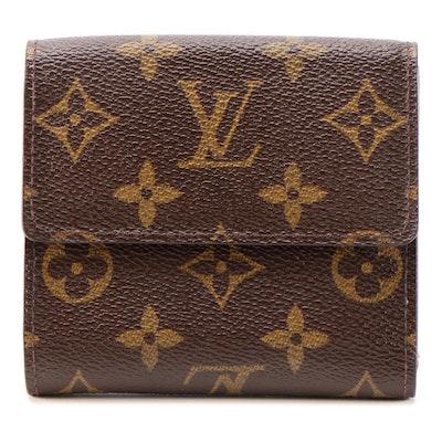 Louis Vuitton Elise Double Flap Wallet in Monogram Canvas