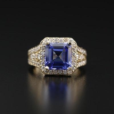14K Tanzanite and 2.08 CTW Diamond Ring