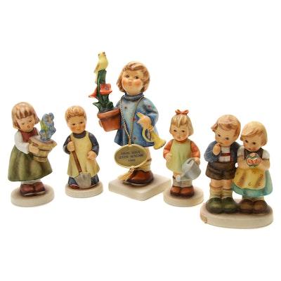 Five Goebel M.I. Hummel Porcelain Figurines
