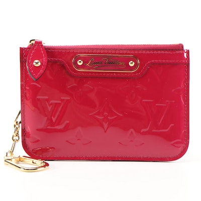 Louis Vuitton Pochette Cles Key Holder in Indian Rose Monogram Vernis