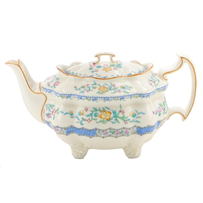 "Royal Doulton Blue ""Morella"" Bone China Teapot, 1932–1960"