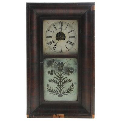 Bristol Brass & Clock Co. Mahogany Shelf Clock, Mid to Late 19th Century