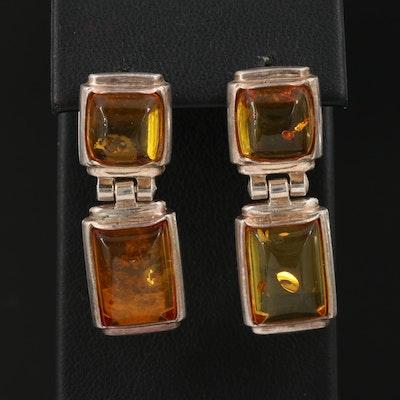 Sterling Silver Copal Resin Earrings