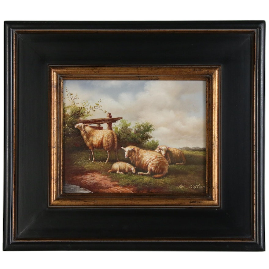 Pastoral Landscape with Sheep Oil Painting
