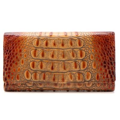 Brahmin Hornback Crocodile Embossed Leather Wallet