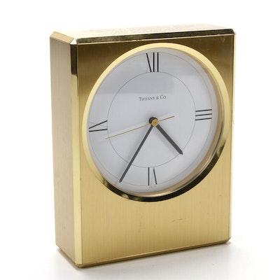Tiffany & Co. Brass Desk Clock Clocks