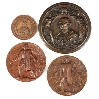 Columbian Exposition Bronze Commemorative Medals