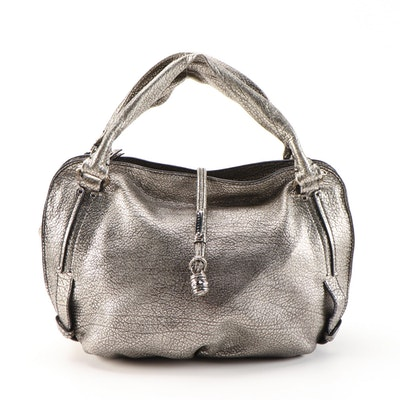 Celine Bittersweet Metallic Grained Leather Hobo Bag