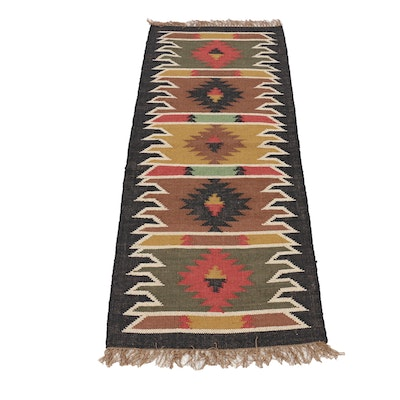 2'8 x 6'10 Handwoven Turkish Village Kilim Rug, 2010s