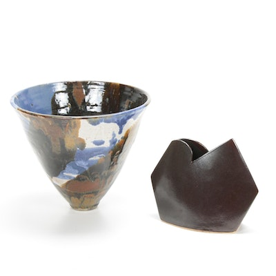 James Johnston and Other Handmade Ceramic Vase