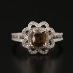 14K 1.52 CT Alexandrite and Diamond Ring with GIA Report