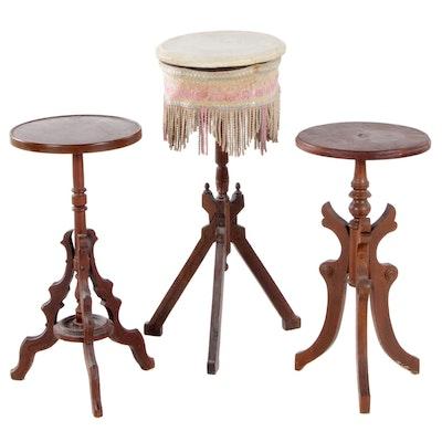 Three Victorian Walnut Stands