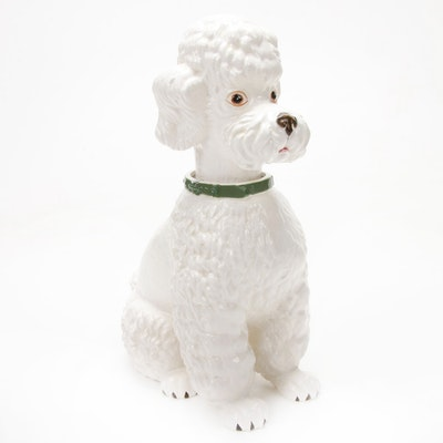 Ardalt Lenwile Ceramic Poodle Bobble Head, Mid-20th Century