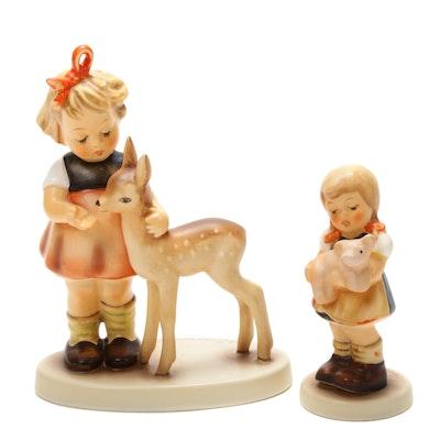 """Goebel """"Pigtails"""" and """"Friends"""" Porcelain Hummel Figurines"""
