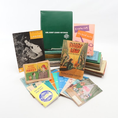 Girl Scout Memorabilia Including Handbooks, Song Books and Magazines