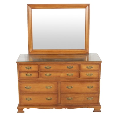 Pennsylvania House Maple Dresser and Mirror, Late 20th Century