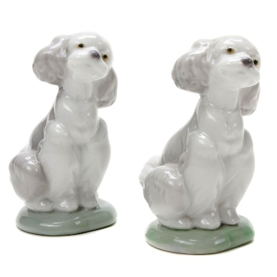 "Lladró Collectors Society ""A Friend for Life"" Porcelain Dog Figurines, 2000"