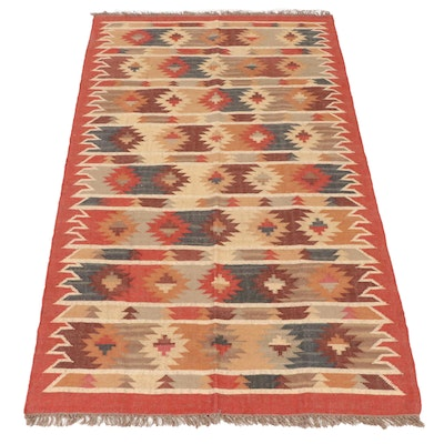 5'0 x 8'5 Handwoven Turkish Village Kilim Rug, 2010s