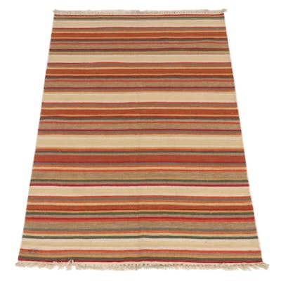 4'0 x 6'0 Handwoven Indo-Turkish Kilim Rug, 2000s