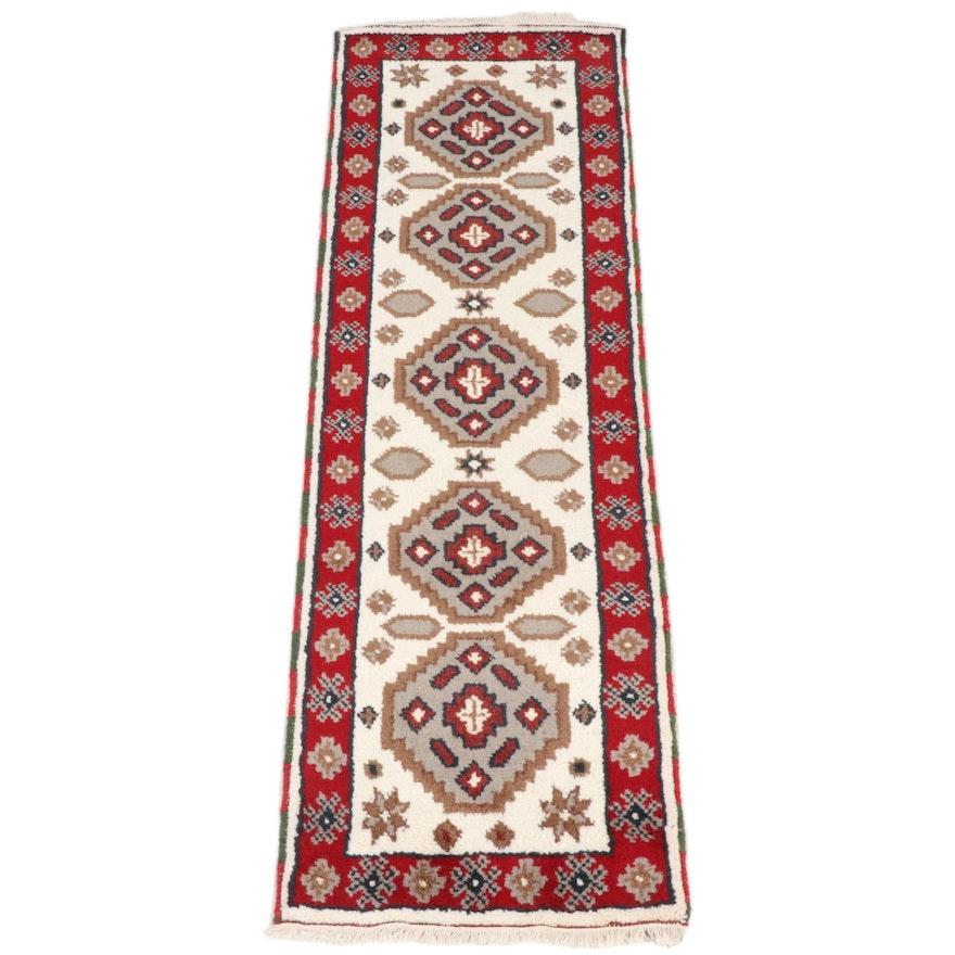 2'0 x 6'3 Hand-Knotted Indo-Caucasian Kazak Runner Rug