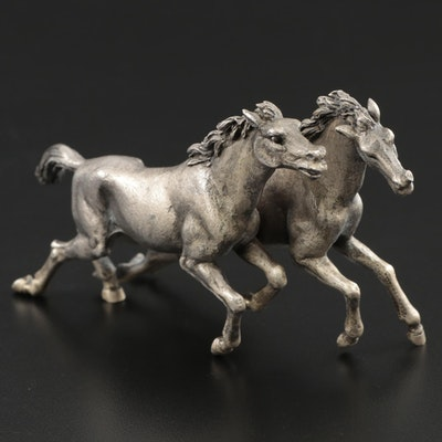 Mario Buccellati Sterling Silver Galloping Horses Figurine