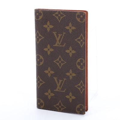 Louis Vuitton Checkbook Cover in Monogram Canvas