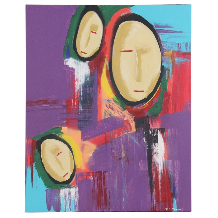 "R.C. Raynor Acrylic Painting ""Exodus"""