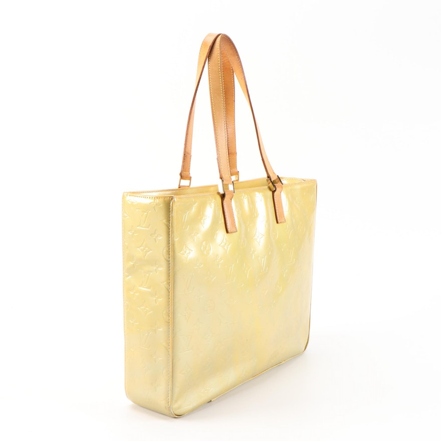 Refurbished Louis Vuitton Colombus Zip Top Shoulder Bag in Monogram Vernis