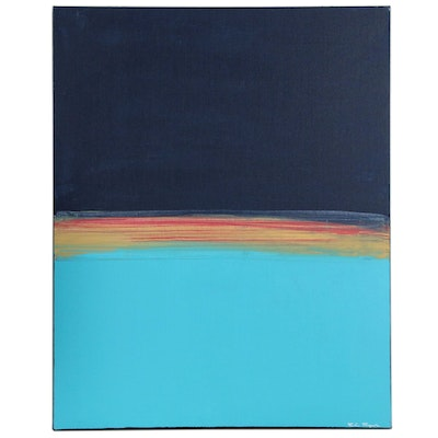 "R.C. Raynor Minimalist Acrylic Painting ""Tranquility"""