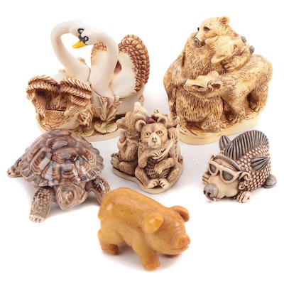 Harmony Kingdom Resin Figural Boxes and Other Figurines