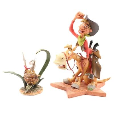 "Walt Disney ""Little April Shower"" and ""Pecos Bill"" Figurines"