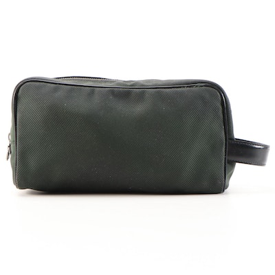 Louis Vuitton Trousse Parana in Taiga Green/Black Canvas