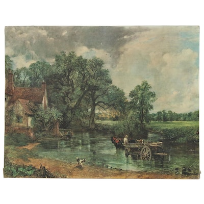 "After John Constable Offset Lithograph ""The Hay Wain"", Late 20th Century"